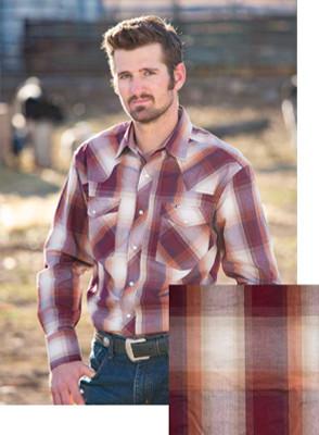 Wyoming Traders Printed Plum/Tan Shirt