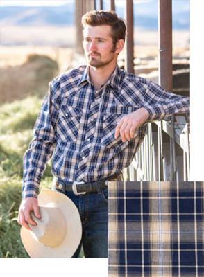 Wyoming Traders Printed Royal/Camel Shirt