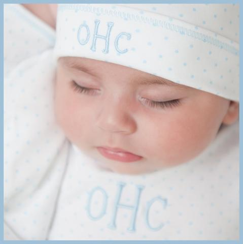 Personalized Newborn Gown & Hat