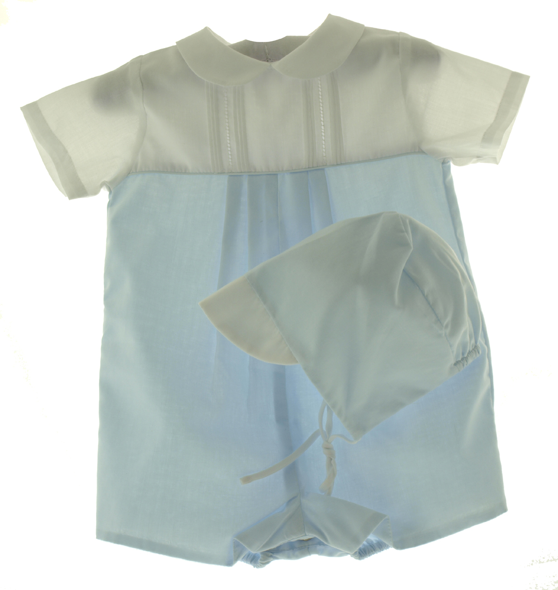Blue & White Boys Newborn Romper