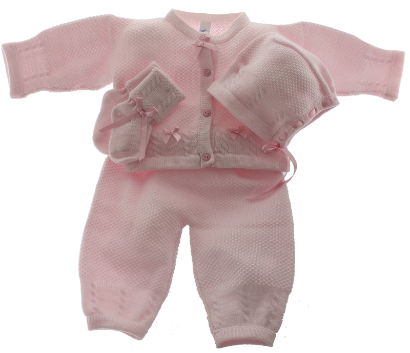 Pink Layette Set by Willbeth