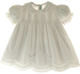 Feltman Brothers Baby Girls Solid White Embroidered Slip Dress