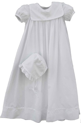 Girls Christening Gown with Cross Collar