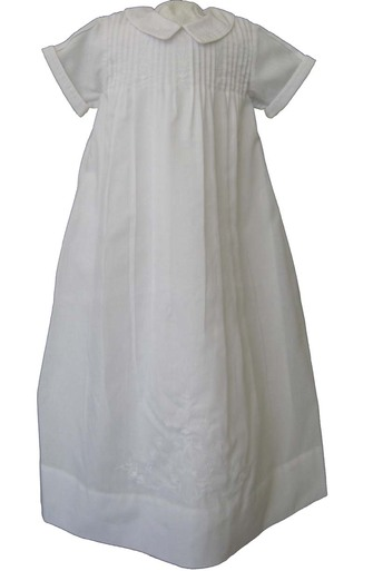 Infant Boys White Baptism Christening Gown - Feltman Brothers
