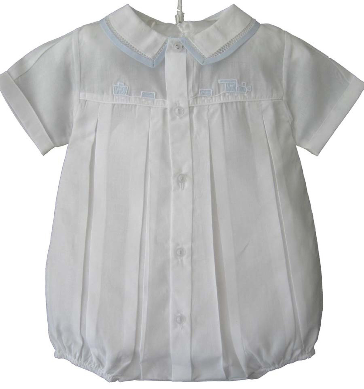 Feltman Brothers Infant Boys White Dressy Outfit with Blue ...