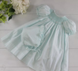 Newborn Mint Green Smocked Dress & Bonnet 5805