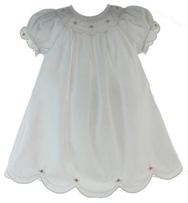 Newborn White Daygown for Girl Rosalina