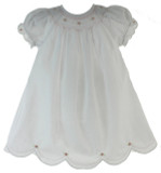 Newborn White Daygown for Girl Rosalina