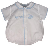 Newborn Boys White Take Home Outfit Blue Tugboat Feltman Brothers