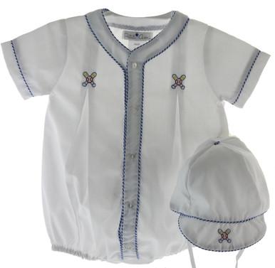 Boys Baseball Bubble Outfit