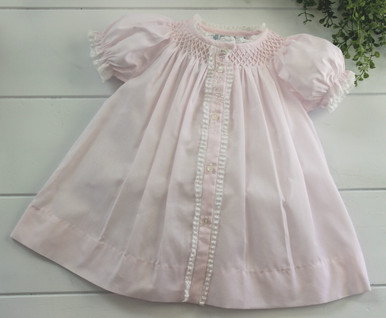 Newborn Girls Pink Vintage Daygown 74760