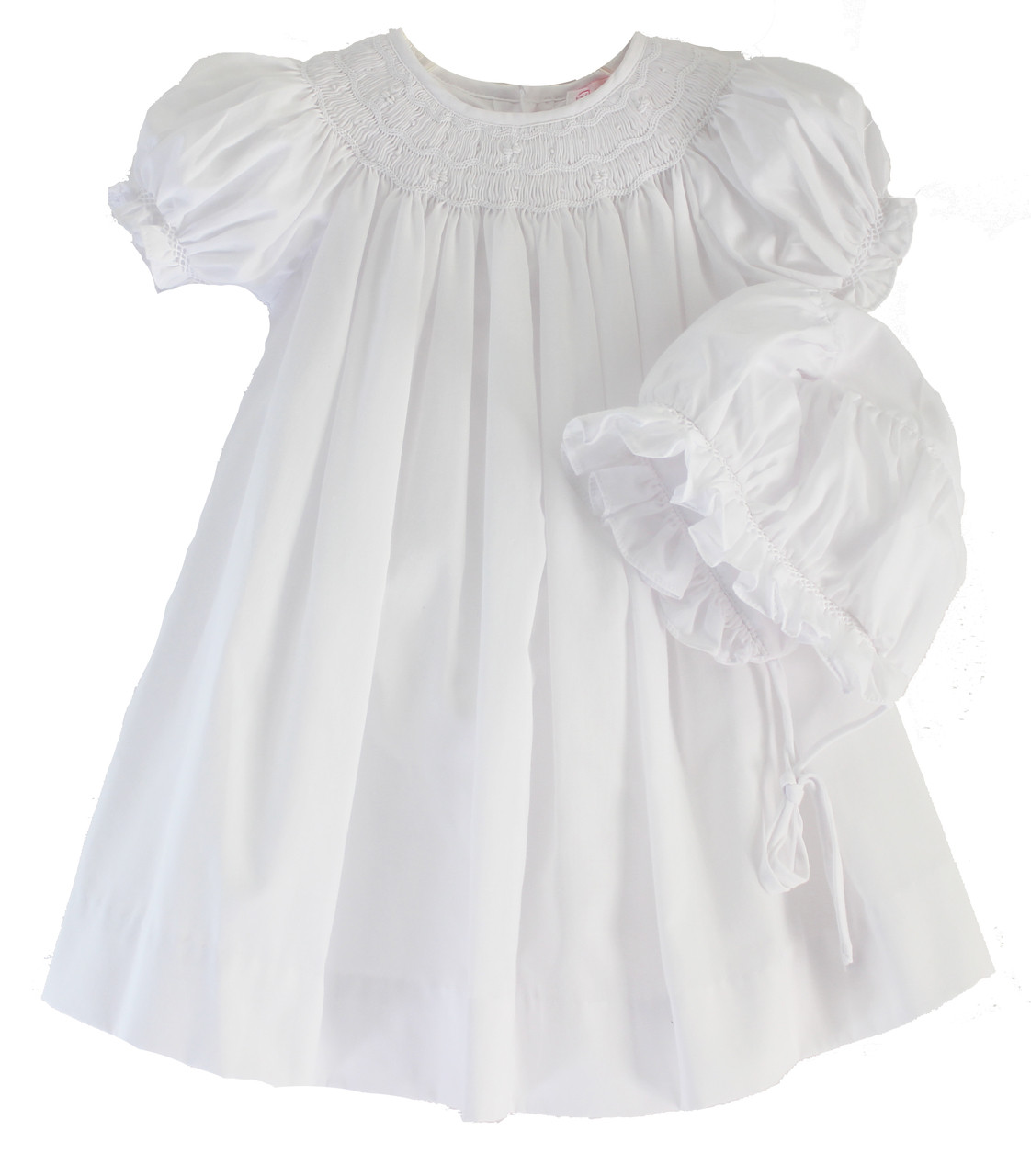 5f933afec White Smocked Bishop Dress for Baby Girl | Children's Clothing Boutique
