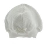 White unisex Layette Beanie Hat