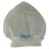 Paty Inc Infant Boys White & Blue Pinstripe Beanie Hat