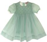 Petit Ami Infant Girls Mint Green Smocked Dress & Diaper Panty