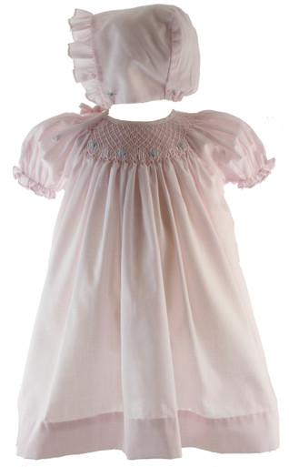 Pink Smocked Take Home Dress for Girl