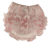 Sarah Louise Infant Girls Pink Ruffled Bloomers