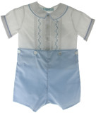 Boys Blue White Bobby Suit