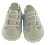 Boys Blue White Saddle Oxford Crib Shoes