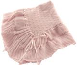 Feltman Brothers Pink Knit Shawl Blanket