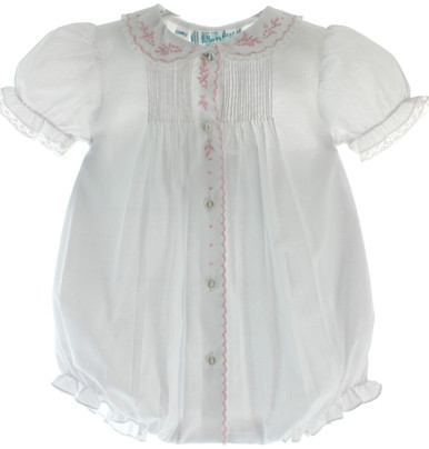 Feltman Brothers Girls White Bubble Outfit with Collar