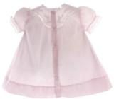 Newborn Girls Pink Vintage Daygown Lace Trim Feltman Brothers