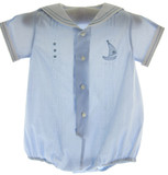 Infant Boys Blue Sailor Outfit