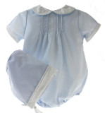 Newborn Boys Blue Take Home Outfit with Hat