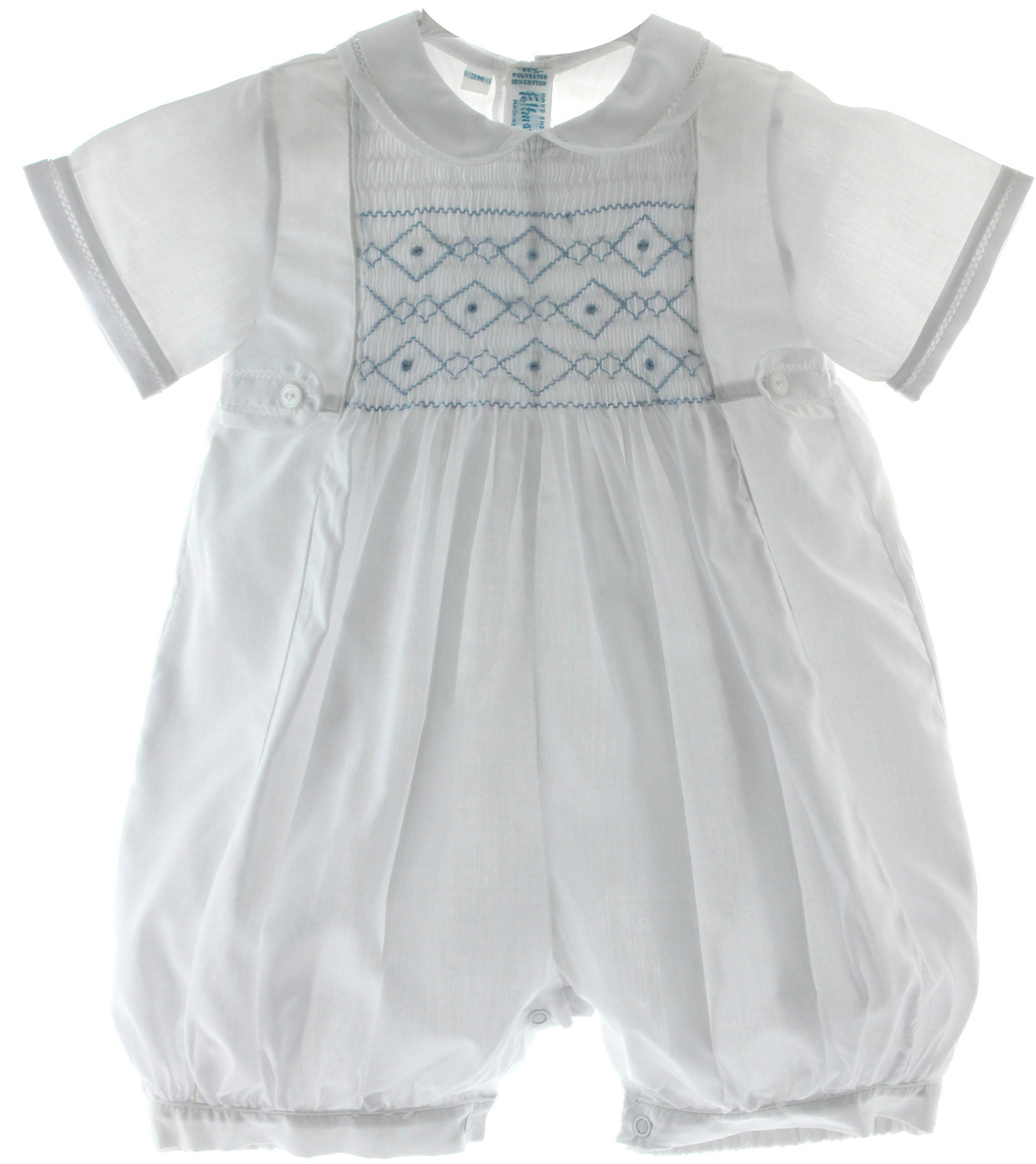 6c04cea613a1 Boys White   Blue Christening Outfit