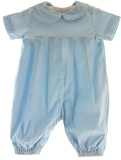 Boys Blue Corduroy Longall Outfit with Peter Pan Collar