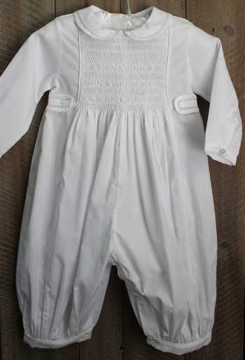 Long Sleeve Christening Romper Feltman Brothers