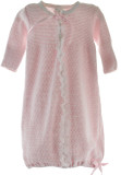Baby Girls Pink Take Home Layette Gown Lace Trim Paty Inc