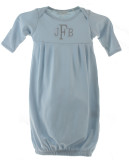 Personalized Newborn Blue Gown