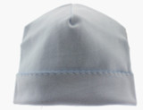 Baby Boys Blue Cotton Beanie Hat