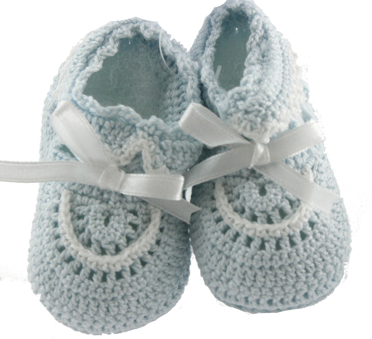 Baby Boys Blue Crochet Knit Baby Booties Hiccups Childrens Boutique