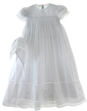 Girls Smocked Christening Gown Feltman Brothers 5981