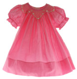 Infant Toddler Girls Fuchsia Pink Smocked Dress