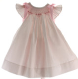 Baby Girls Pink Angel Bishop Dress