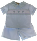 Boys Christening Short Set