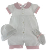 Girls Knit Layette Set