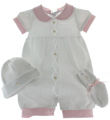 Girls Knit Layette Set