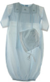 Newborn Boys Blue Take Home Gown with Airplanes