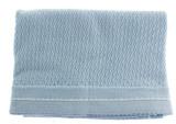 Blue Knit Shawl Baby Blanket