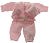 Girls Pink Layette Set Hat & Booties