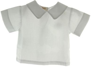 Boys White Dress Shirt with  Collar