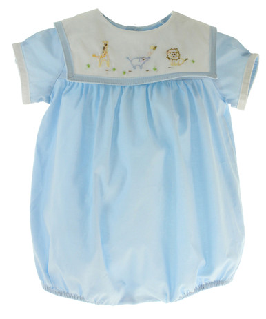 Baby Boys Bubble Outfit with Safari Animals