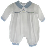 Boys Preemie Romper Sailboat