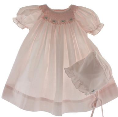 Pink Layette Dress Set