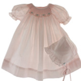 Pink Layette Dress Set