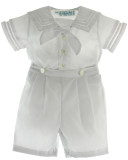 Boys White Sailor Bobbie Suit